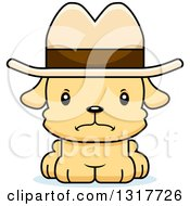 Animal Clipart Of A Cartoon Cute Mad Puppy Dog Cowboy Royalty Free Vector Illustration