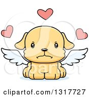 Animal Clipart Of A Cartoon Cute Mad Puppy Dog Cupid Royalty Free Vector Illustration