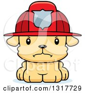 Animal Clipart Of A Cartoon Cute Mad Puppy Dog Fireman Royalty Free Vector Illustration