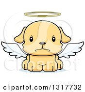 Animal Clipart Of A Cartoon Cute Mad Puppy Dog Angel Royalty Free Vector Illustration