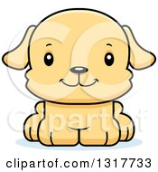 Animal Clipart Of A Cartoon Cute Happy Puppy Dog Royalty Free Vector Illustration by Cory Thoman