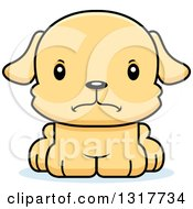 Animal Clipart Of A Cartoon Cute Mad Puppy Dog Royalty Free Vector Illustration by Cory Thoman