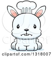Animal Clipart Of A Cartoon Cute Mad White Rabbit Chef Royalty Free Vector Illustration