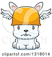 Animal Clipart Of A Cartoon Cute Mad White Rabbit Hermes Royalty Free Vector Illustration