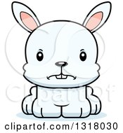 Animal Clipart Of A Cartoon Cute Mad White Rabbit Royalty Free Vector Illustration by Cory Thoman