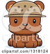 Animal Clipart Of A Cartoon Cute Happy Bear Cub Zookeeper Royalty Free Vector Illustration