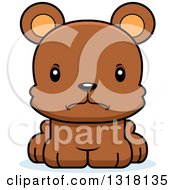 Animal Clipart Of A Cartoon Cute Mad Bear Cub Royalty Free Vector Illustration