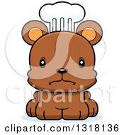 Animal Clipart Of A Cartoon Cute Mad Bear Cub Chef Royalty Free Vector Illustration