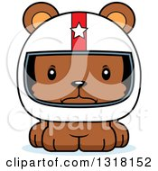 Animal Clipart Of A Cartoon Cute Mad Bear Cub Car Racer Royalty Free Vector Illustration