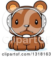Animal Clipart Of A Cartoon Cute Mad Bear Cub Wrestler Royalty Free Vector Illustration