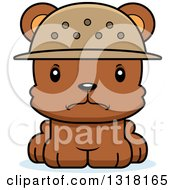 Animal Clipart Of A Cartoon Cute Mad Bear Cub Zookeeper Royalty Free Vector Illustration