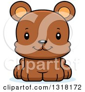 Animal Clipart Of A Cartoon Cute Happy Bear Cub Royalty Free Vector Illustration by Cory Thoman