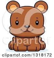 Animal Clipart Of A Cartoon Cute Happy Bear Cub Royalty Free Vector Illustration by Cory Thoman