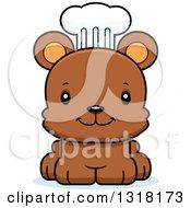 Animal Clipart Of A Cartoon Cute Happy Bear Cub Chef Royalty Free Vector Illustration