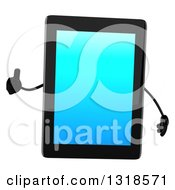 Clipart Of A 3d Tablet Computer Character Giving A Thumb Up Royalty Free Illustration by Julos
