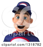 Clipart Of A 3d Avatar Of A Young White Male Super Hero Mechanic In Red And Dark Blue Royalty Free Illustration
