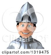 Clipart Of A 3d Caucasian Male Armored Knight Avatar Royalty Free Illustration