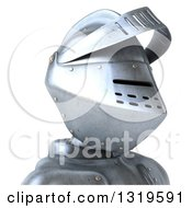 Clipart Of A 3d Armored Knight Avatar Facing Right Royalty Free Illustration