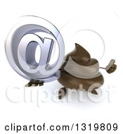 Clipart Of A 3d Milk Chocolate Or Poop Character Holding Up A Thumb And Email Arobase At Symbol Royalty Free Illustration by Julos