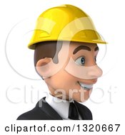 Clipart Of A 3d Young White Male Architect Avatar Facing Right Royalty Free Illustration