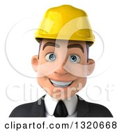 Clipart Of A 3d Young White Male Architect Avatar Royalty Free Illustration