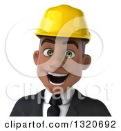 Clipart Of A 3d Young Black Male Architect Avatar Royalty Free Illustration