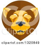 Modern Flat Design Mal Lion Head