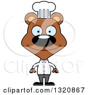 Clipart Of A Cartoon Happy Brown Bear Chef Royalty Free Vector Illustration by Cory Thoman