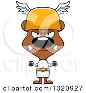 Clipart Of A Cartoon Angry Brown Bear Hermes Royalty Free Vector Illustration