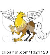 Clipart Of A Cartoon Hippogriff Mythical Creature Royalty Free Vector Illustration