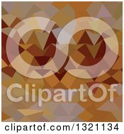 Clipart Of A Low Poly Abstract Geometric Background Of Mikado Yellow Royalty Free Vector Illustration
