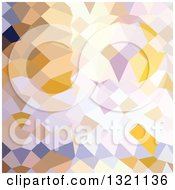 Clipart Of A Low Poly Abstract Geometric Background Of Hansa Yellow Royalty Free Vector Illustration