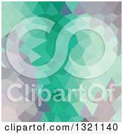 Clipart Of A Low Poly Abstract Geometric Background Of Celadon Green Royalty Free Vector Illustration