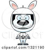 Clipart Of A Cartoon Happy Astronaut Rabbit Royalty Free Vector Illustration