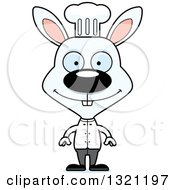 Clipart Of A Cartoon Happy White Rabbit Chef Royalty Free Vector Illustration