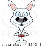 Clipart Of A Cartoon Happy Karate Rabbit Royalty Free Vector Illustration