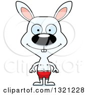 Clipart Of A Cartoon Happy Rabbit Swimmer Royalty Free Vector Illustration