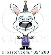 Clipart Of A Cartoon Mad Rabbit Wizard Royalty Free Vector Illustration