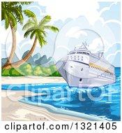 Cruise Ship At A Beach