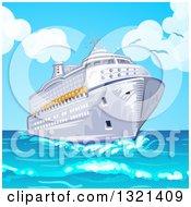 Cruise Ship And Blue Sky