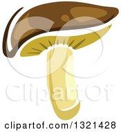 Clipart Of A Cartoon Shiitake Mushroom Royalty Free Vector Illustration by Vector Tradition SM