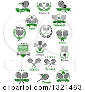 Clipart Of Tennis Sports Designs With Text Royalty Free Vector Illustration