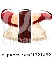 Clipart Of Cartoon Nigiri Sushi Royalty Free Vector Illustration