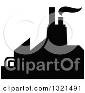 Clipart Of A Black Silhouetted Refinery Factory 19 Royalty Free Vector Illustration