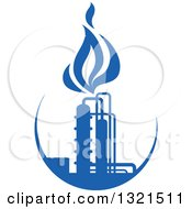 Clipart Of A Blue Natural Gas And Flame Design 9 Royalty Free Vector Illustration