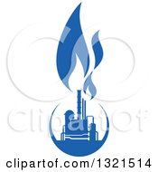 Clipart Of A Blue Natural Gas And Flame Design 10 Royalty Free Vector Illustration