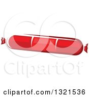Clipart Of A Sausage Or Pepperoni Stick Royalty Free Vector Illustration