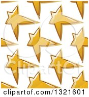 Clipart Of A Seamless Background Pattern Of Gold Stars 3 Royalty Free Vector Illustration