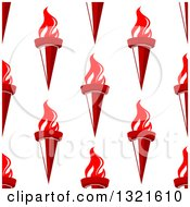 Clipart Of A Seamless Pattern Background Of Red Torches 3 Royalty Free Vector Illustration