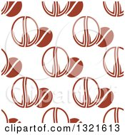 Clipart Of A Seamless Background Pattern Of Coffee Beans Royalty Free Vector Illustration